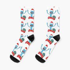 Mr. Meeseeks Merry Christmas Socks
