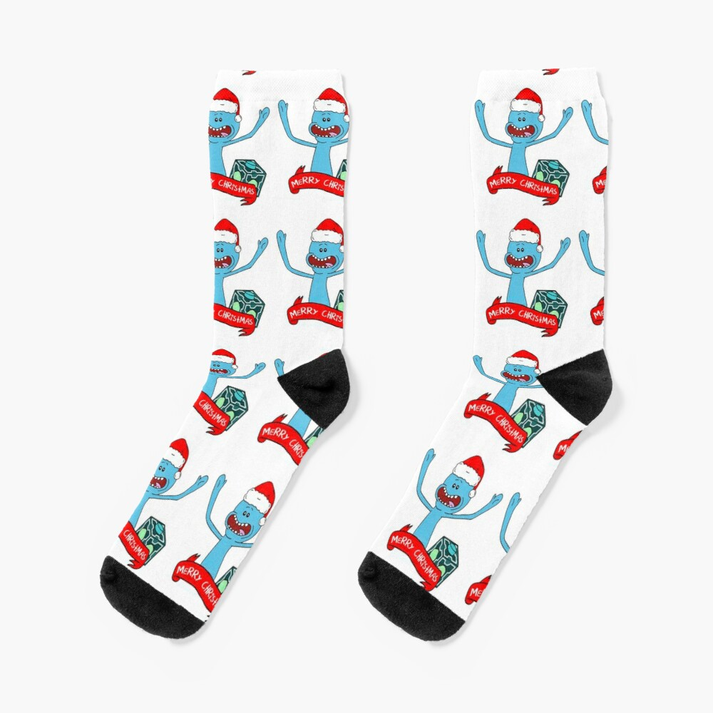 Mr. Meeseeks Merry Christmas Socks