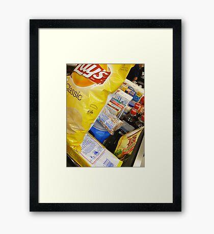 01-14-11 Groceries. Framed Print