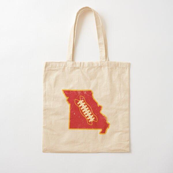 KC Missouri Football, Retro - White Cotton Tote Bag