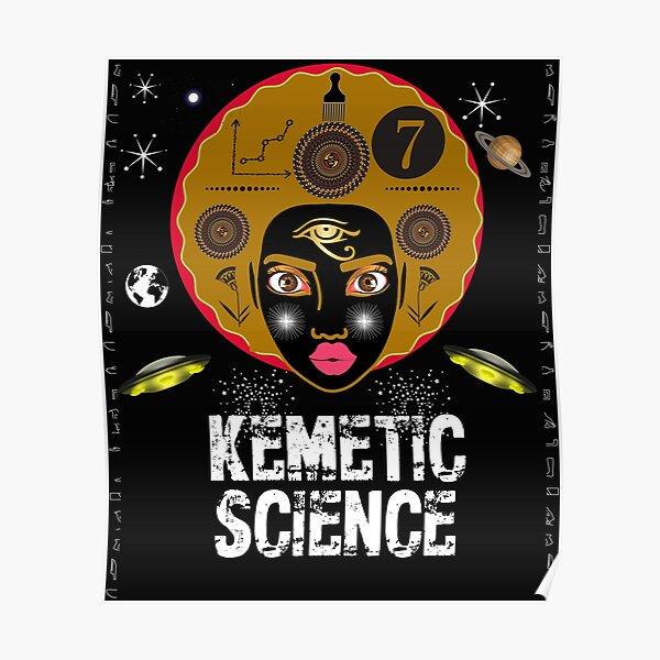 Kemetic Science - True Royalty Pharaoh Pyramids Sphinx T-Shirt Poster