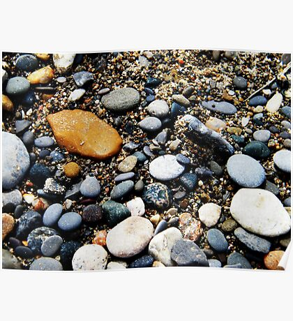 Pebbles at Point Pelee, Ontario Poster