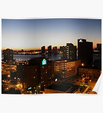 Windsor/Detroit Skyline at Sunset II Poster