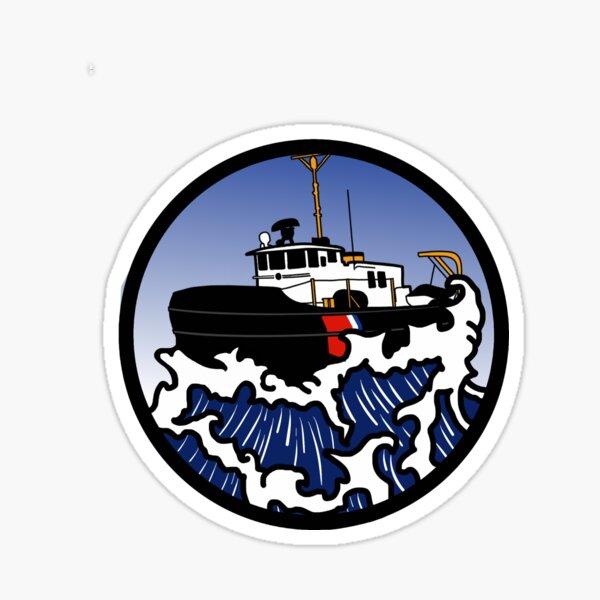 Wave Series - Harbor Tug Sticker
