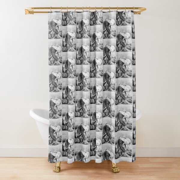 Cheeky - charcoal by Avril Thomas Shower Curtain