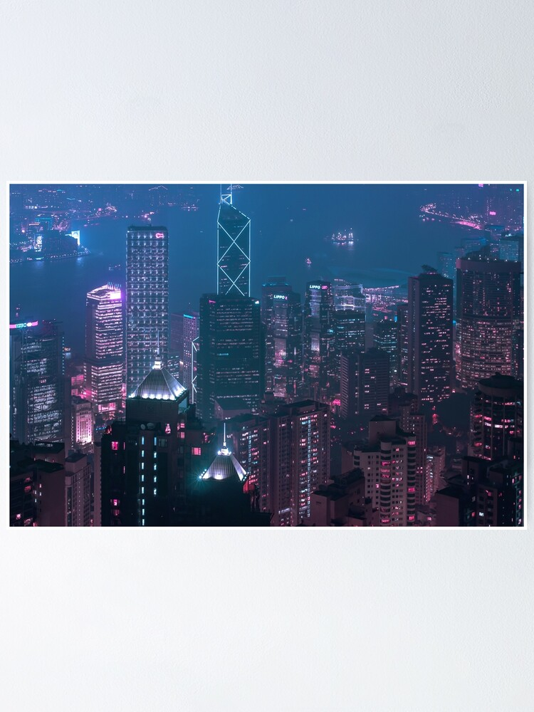 Alternate view of Hong Kong Viewed from the sky Poster