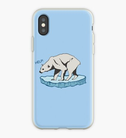 Polar Bear - Help! iPhone Case