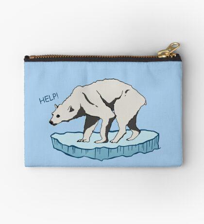 Polar Bear - Help! Zipper Pouch