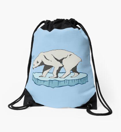 Polar Bear - Help! Drawstring Bag