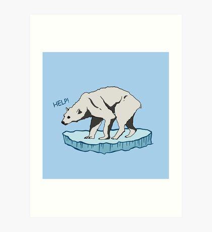 Polar Bear - Help! Art Print