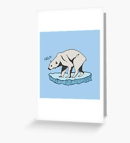 Polar Bear - Help! Greeting Card