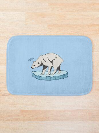 Polar Bear - Help! Bath Mat