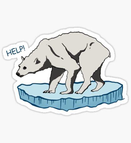 Polar Bear - Help! Sticker