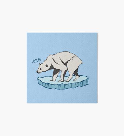 Polar Bear - Help! Art Board Print