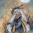 Miri and the Golden Flower - Usagi Moon Rabbit by TeaKitsune