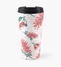 Australiana Floral Print- Bottlebrush and Flowering Gum Travel Mug