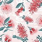 Australiana Floral Print- Bottlebrush and Flowering Gum by thatsgraphic