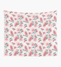 Australiana Floral Print- Bottlebrush and Flowering Gum Wall Tapestry