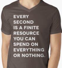 Every Second (White Letter Version) Mens V-Neck T-Shirt