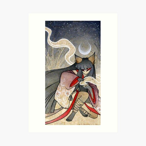 Fox Spell - Kitsune Yokai Japanese Art Print