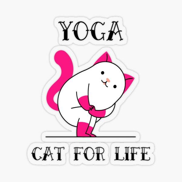 Yoga Cat For Life Transparent Sticker