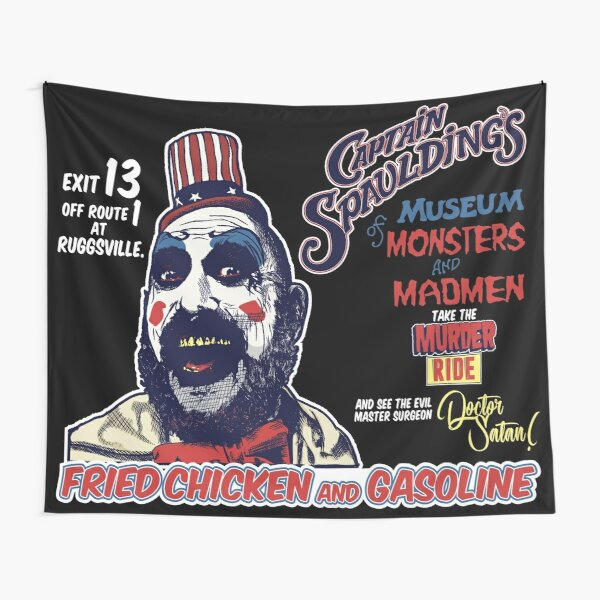 Captain Spaulding's Museum of Monsters and Madmen Tapestry