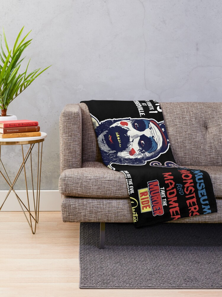 Alternate view of Captain Spaulding's Museum of Monsters and Madmen Throw Blanket