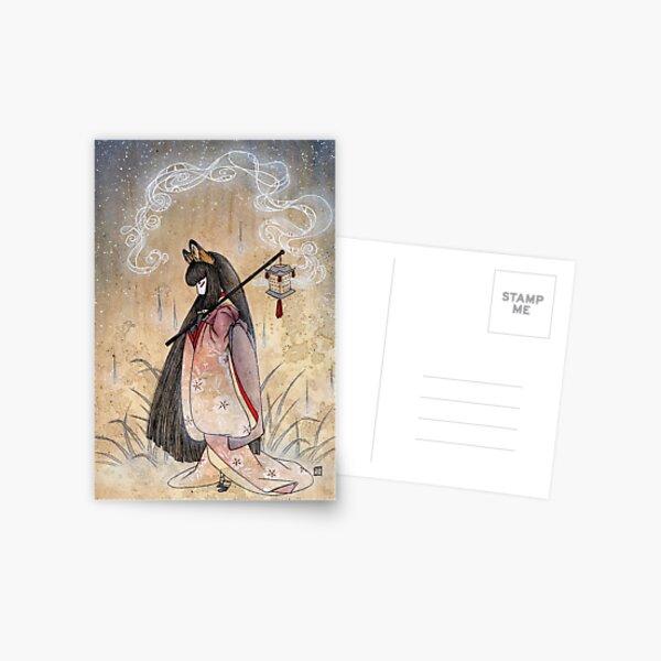 Bad Thoughts - Kitsune Fox Yokai  Postcard