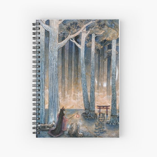 Beginning - Kitsune Fox Yokai Japanese Spiral Notebook