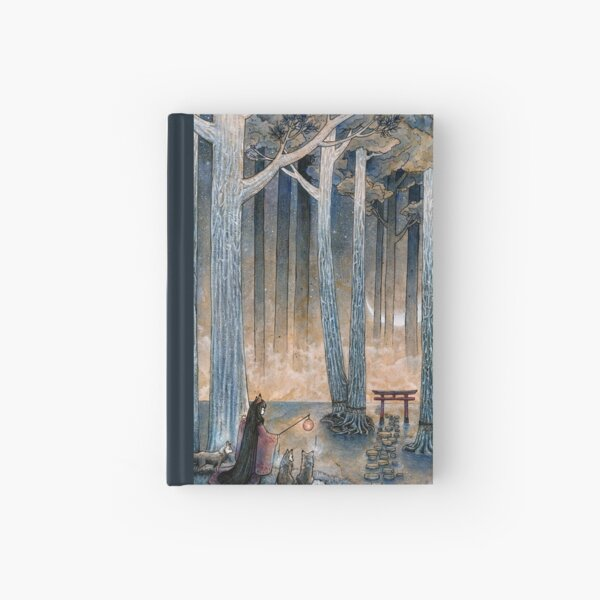 Beginning - Kitsune Fox Yokai Japanese Hardcover Journal