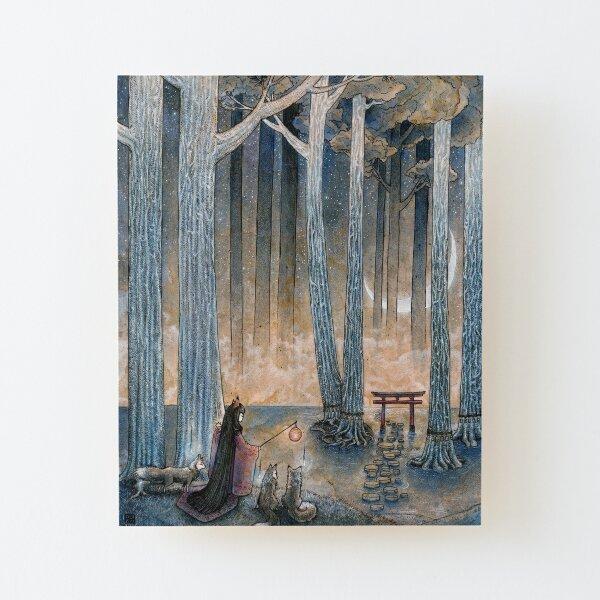 Beginning - Kitsune Fox Yokai Japanese Wood Mounted Print