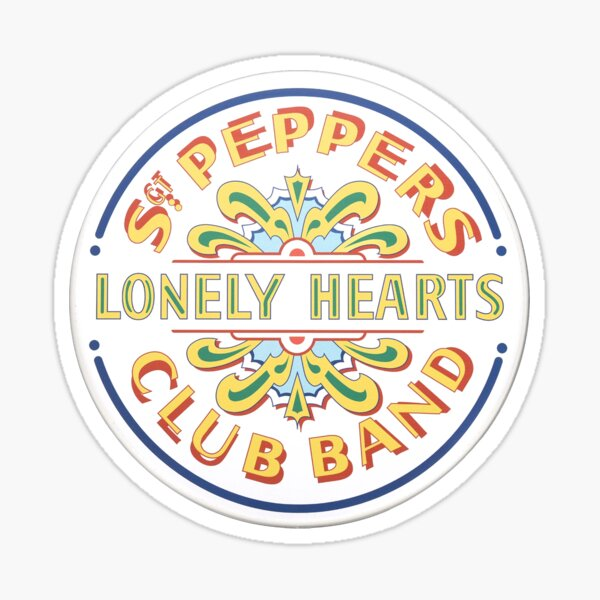 Sgt Pepper Drum Skin Sticker