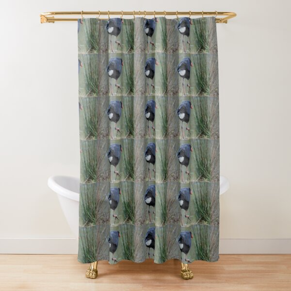 Moorhen by Avril Thomas Shower Curtain