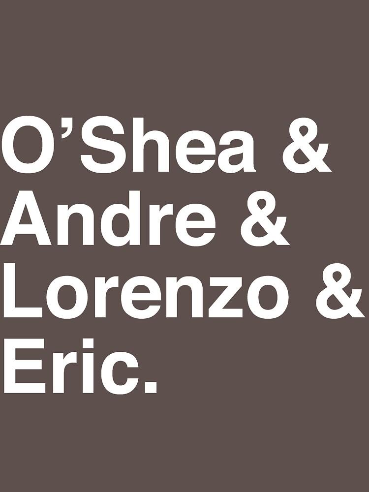 O'Shea & Andre & Lorenzo & Eric NWA T-Shirt | Unisex T-Shirt