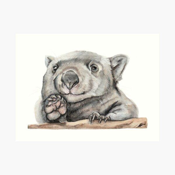 Lucy the Wombat Lámina artística