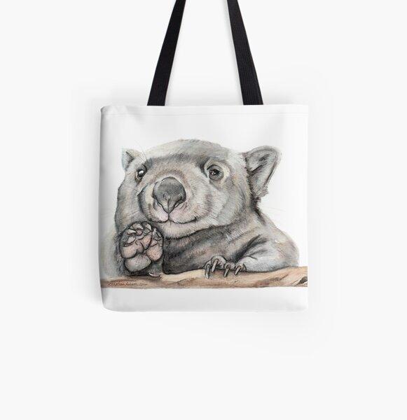 Lucy the Wombat All Over Print Tote Bag