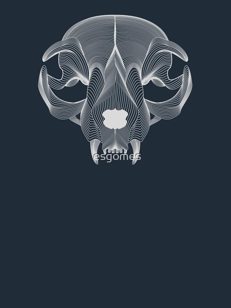 Silver Cat Skull by esgomes