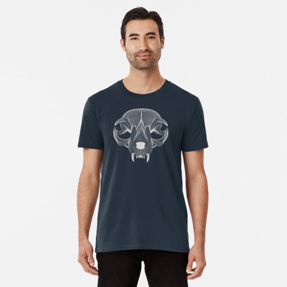 Silver Cat Skull Premium T-Shirt