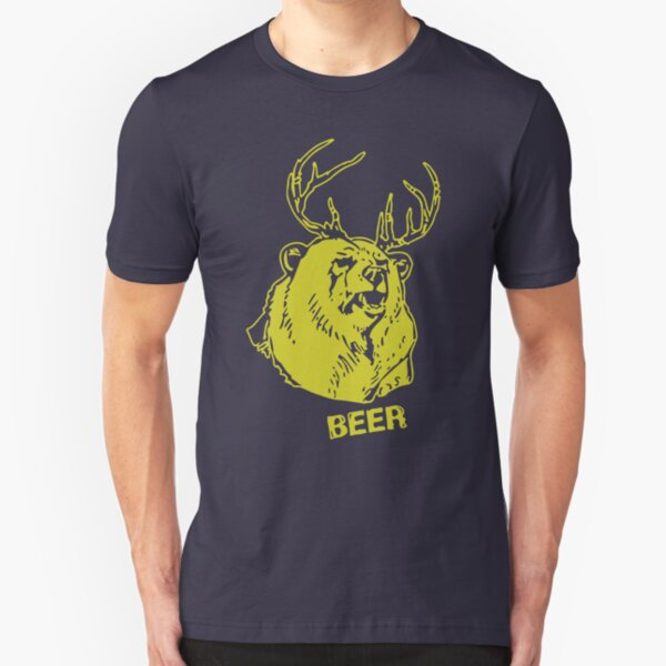 Macs Bear Plus Deer Shirt & More Slim Fit T-Shirt
