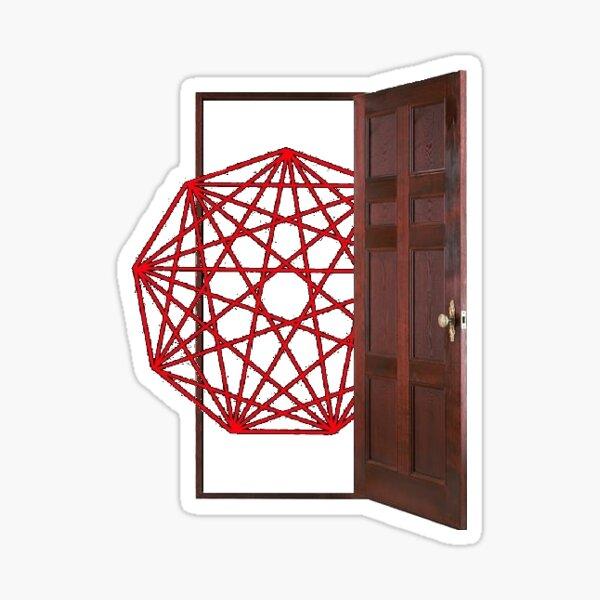 Nonagon Infinity Opens the Door Sticker