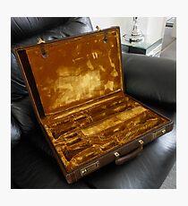 Vintage Clarinet Case Photographic Print