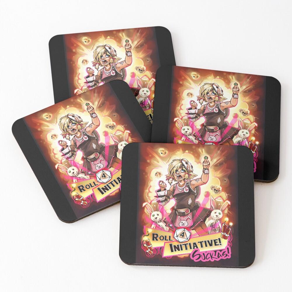 Roll for Initiative Suckas! Coasters (Set of 4)