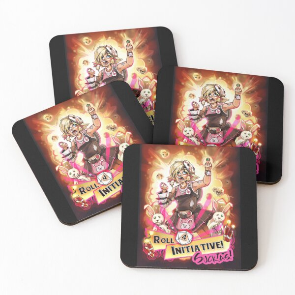 Roll for Initiative Suckas! Coasters (Set of 4)
