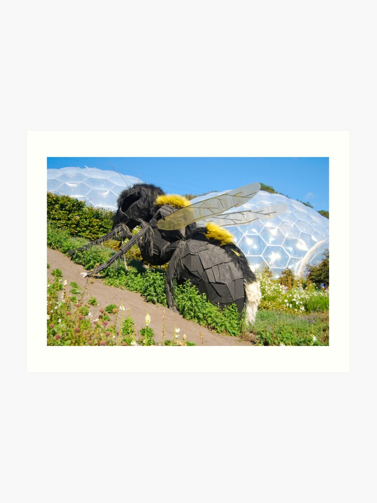 Giant Wasp Eden Project Cornwall Uk Art Print