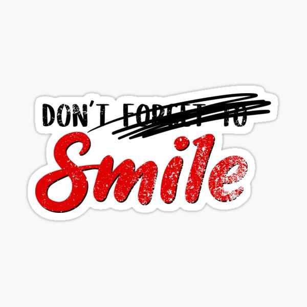 N'oubliez pas de sourire - Joker Sticker