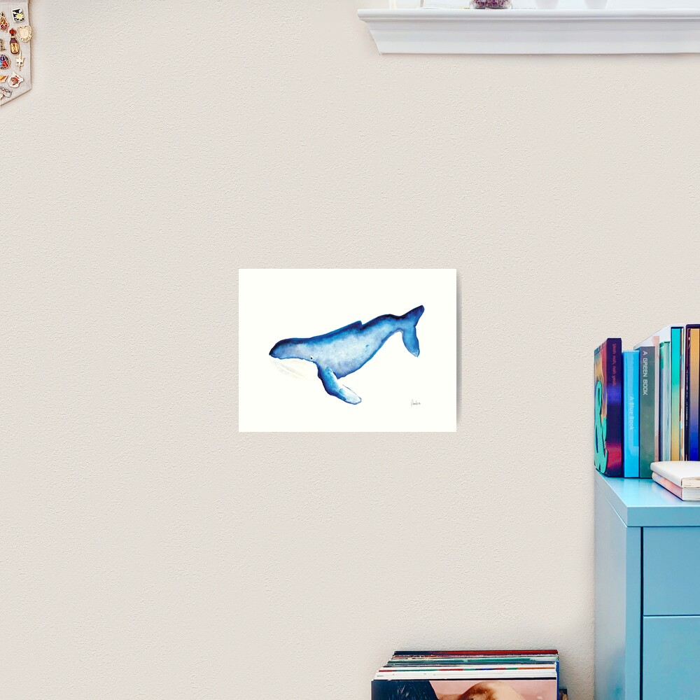 Whales Collection: Watercolor  Art Print