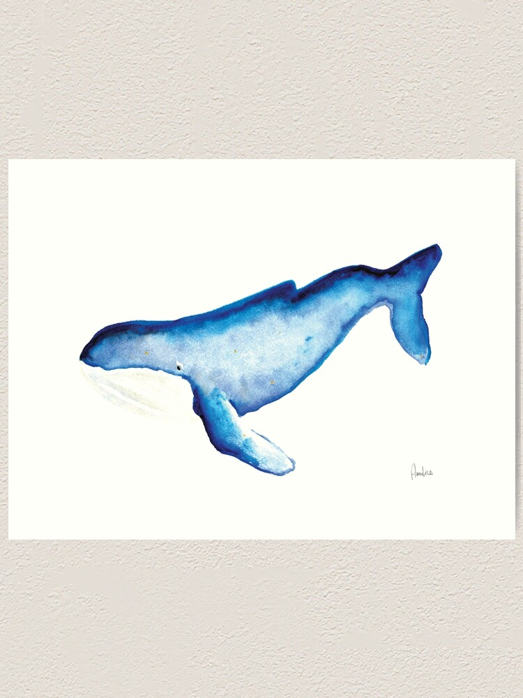 Alternate view of Whales Collection: Watercolor  Art Print
