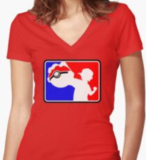MLG Pokemon Women's Fitted V-Neck T-Shirt
