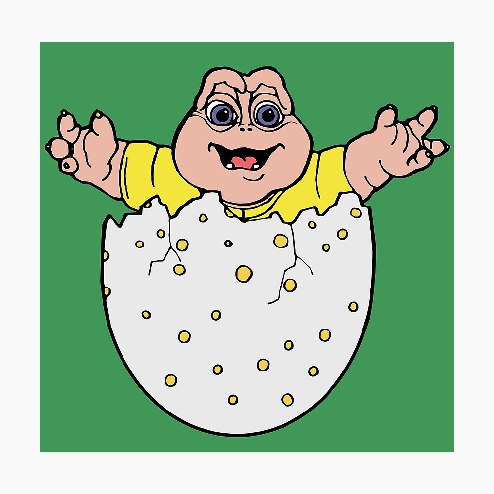 Baby Sinclair Dinosaurs Metal Print By Savesarah Redbubble