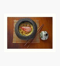 Prawn Noodles  Art Print